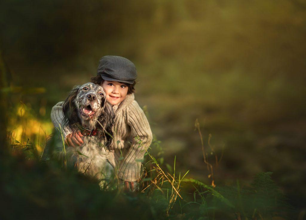 fotografia profesional niños y perros cantabria